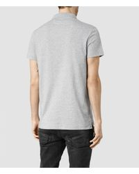 AllSaints | Gray Riordan Polo for Men | Lyst