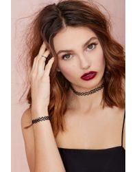 Nasty Gal | Black Get Tatted Choker & Bracelet Set | Lyst