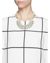 Kenneth Jay Lane | Metallic Pearl And Crystal Necklace | Lyst