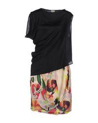 INTROPIA - Black Short Dress - Lyst