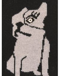 Marc By Marc Jacobs | Black Olive The Dog Wool Scarf | Lyst