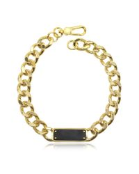 Marc By Marc Jacobs | Metallic Link To Katie Id Plaque Statement Necklace | Lyst