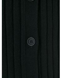Yohji Yamamoto - Black Long Ribbed Sweater for Men - Lyst