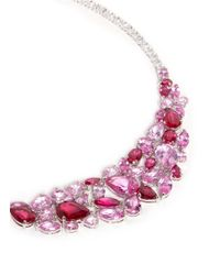 CZ by Kenneth Jay Lane - Purple 'pisi' Rose Petal Zirconia Gemstone Necklace - Lyst