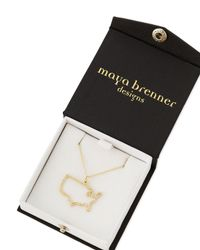 Maya Brenner Designs - Metallic Pave Diamond Usa Necklace - Lyst