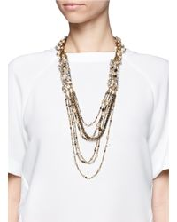 Erickson Beamon | Metallic Ballroom Dancing Embellished Multi-chain Necklace | Lyst