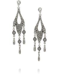 Philippe Audibert - Metallic Regine Pewterplated Crystal Earrings - Lyst