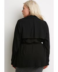 Forever 21 - Black Plus Size Self-tie Duster Jacket You've Been Added To The Waitlist - Lyst