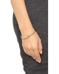 Pamela Love | Metallic Ouroboros Bangle Bracelet - Brass | Lyst
