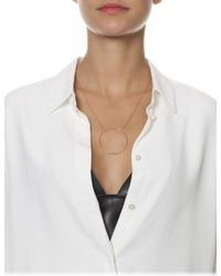 Maria Black | Metallic Rose Gold Monocle Necklace | Lyst
