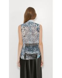 MM6 by Maison Martin Margiela - Multicolor Sleeveless Floral Shirt - Lyst