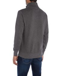 GANT - Gray Sacker Rib Half Zip Jumper for Men - Lyst