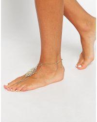 ASOS - Metallic Filigree Foot Harness - Lyst
