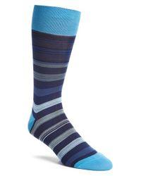 Bugatchi   Blue 'stripe Within Stripe' Socks for Men   Lyst