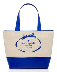 kate spade new york | Natural Heritage Spade Logo Summer | Lyst