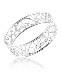 Ralph Masri | Metallic Lattice Bangle Silver | Lyst