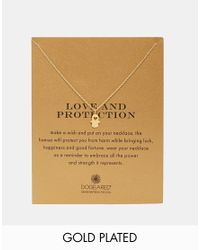 Dogeared | Metallic Gold Plated Heart Hamsa Love And Protection Necklace | Lyst