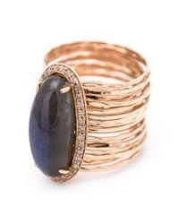 Jacquie Aiche | Metallic Oval Stone Ring | Lyst