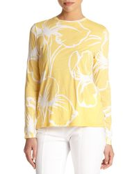 Tory Burch - Yellow Addison Tee - Lyst