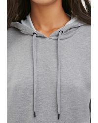 Forever 21 - Gray Hooded Sweatshirt Dress - Lyst