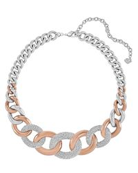 Swarovski | Metallic Bound Crystallized Two-Tone Link Necklace | Lyst