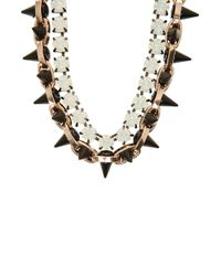 Joomi Lim - Multicolor Exclusive Opal And Spike Embellished Necklace - Lyst