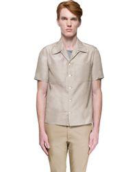 Valentino - Natural Silk Shirt for Men - Lyst