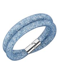 Swarovski | Stardust Blush Blue Double Bracelet | Lyst