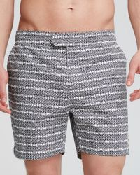 Psycho Bunny | Blue Micro Bunny Tab Front Swim Trunks for Men | Lyst