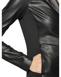 Emporio Armani - Black Nappa Leather Jacket - Lyst
