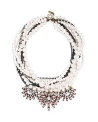 BaubleBar | Black 'bennett' Layered Bib Necklace | Lyst