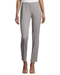 Lafayette 148 New York - Gray Long Stanton Pants - Lyst