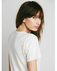 Free People | White Henley Dress | Lyst