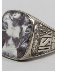George Frost - Usn Sweetheart Ring White Bronze for Men - Lyst