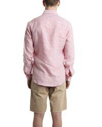 Hentsch Man - Sunday Red Linen Shirt for Men - Lyst
