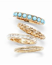 Ann Taylor - Metallic Peacock Stackable Rings - Lyst