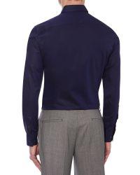 Kenneth Cole - Blue Rutger Insert Detail Squares Shirt for Men - Lyst
