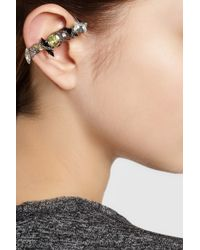 Vickisarge - Metallic Rutheniumplated Swarovski Crystal Ear Cuff - Lyst