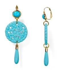 Kenneth Jay Lane | Blue Leverback Drop Earrings | Lyst
