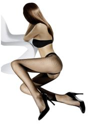 Wolford | Black Small Fishnet Tights | Lyst