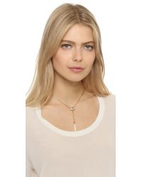 Elizabeth Cole | Metallic Golden Glow Y Necklace | Lyst