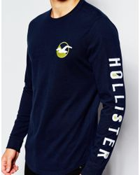 Hollister | Blue Long Sleeved T-shirt With Seagull Logo for Men | Lyst