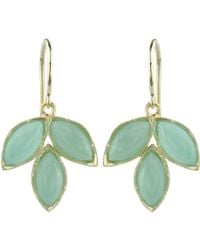 Irene Neuwirth | Blue Gemstone Triple-marquise Earrings | Lyst