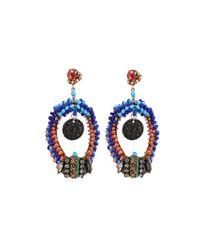 Erickson Beamon | Blue Fashion Tribe Earrings | Lyst
