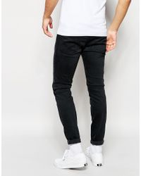 DIESEL | Jeans Stickker 844v Super Skinny Stretch Soft Black for Men | Lyst