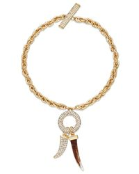 INC International Concepts | Metallic Gold-tone Crystal Pavé Horn Toggle Bracelet | Lyst