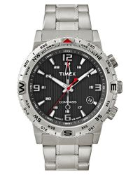 Timex - Metallic Timex 'intelligent Quartz - Adventure Compass' Bracelet Watch for Men - Lyst