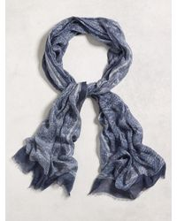John Varvatos | Gray Paisley Printed Scarf for Men | Lyst
