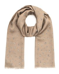 Richard James - Brown Tan Inca Motif Cashmere And Silk-blend Scarf - Lyst