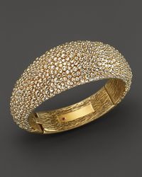 Roberto Coin - Metallic 18k Yellow Gold Plated Sterling Silver Stingray Hinged Bangle - Lyst